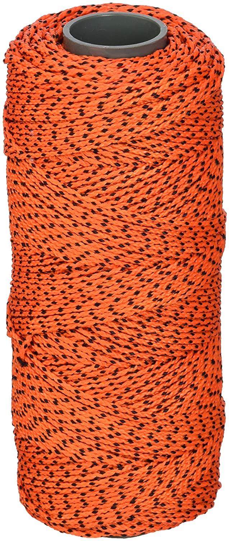 Bon 11-259 18#, 500-Feet Bonded Braided Nylon Line, Orange with Black Flecks