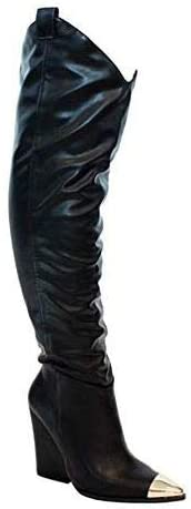 Liliana Western Pointed Slouchy Over Knee Thigh High Boot