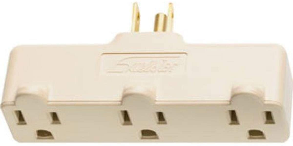 Legrand - Pass & Seymour 697RI Plug in One to Three Outlet Adaptor, Single Pole Three Wire, Ivory