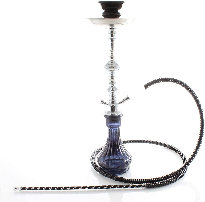 1- Hose Black Gini Shisha Black Laser Pipe hooka - no Tobacco no Nicotine Set Wholesale Fun Nargila - no Tobacco no Nicotine