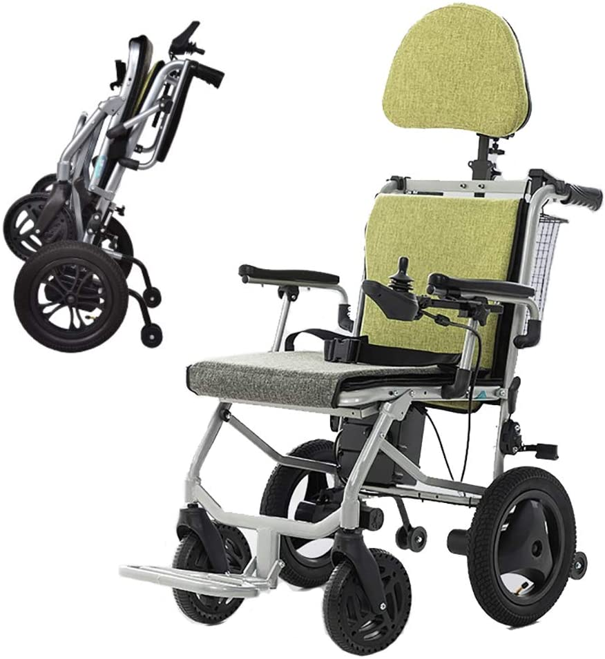 ZWPY Foldable Power Wheel Chair, Electric Scooters, Motorized Fold Foldable, Dual Control, 20Km Range, Suitable for Elderly and Disabled