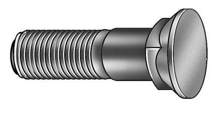 Plow Bolt, YZ, 5/8-11x2-1/2, Gr 8, PK10