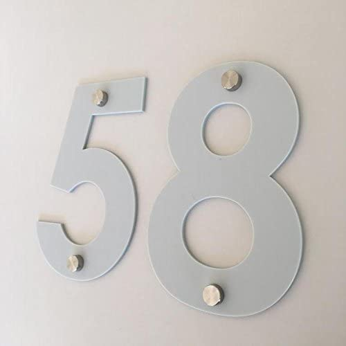 Super Cool Creations Light Grey Matt Drilled Finish House Numbers - Century Gothic, 15cm