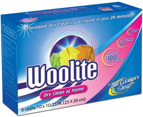 Woolite Dry Cleaner's Secret at Home Dry Cleaning, 6-Count Box