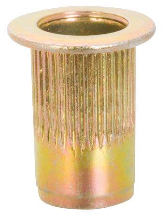 1/4-20 THD.027 to .165 Grip Range, Individual Klik Rivet Nuts, Ribbed (1 Each)