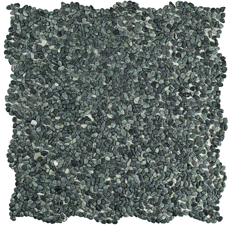 SomerTile PGYPMSG Caillou Mini Pebble Stone Mosaic Floor and Wall Tile, 12.25