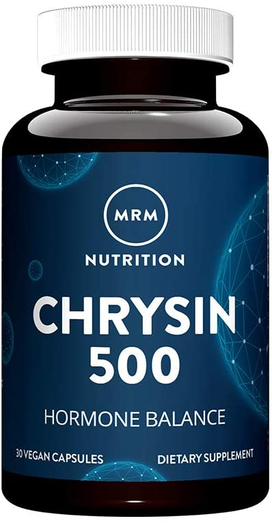 MRM - Chrysin 500, Supports Healthy Testosterone Levels & Promotes Lean Muscle Mass, Pure 5,7-Dihydroxflavone (30 Vegetarian Capsules)
