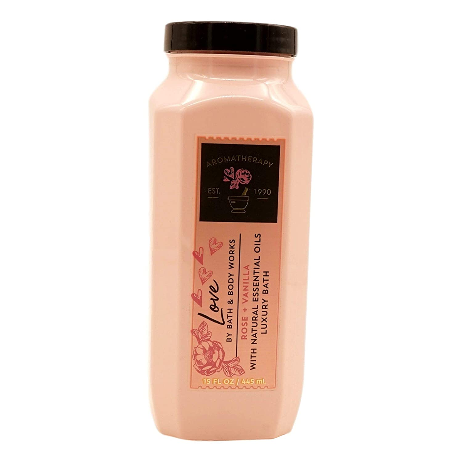 Bath and Body Works Love Rose and Vanilla Luxury Bubble Bath 15 Ounce Aromatherapy