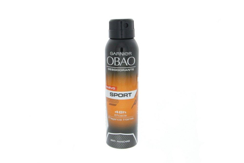Obao Mens Sport Deodorant Spray 150ml - Desodorante Aerosol de Deporte para Hombre (Pack of 2)