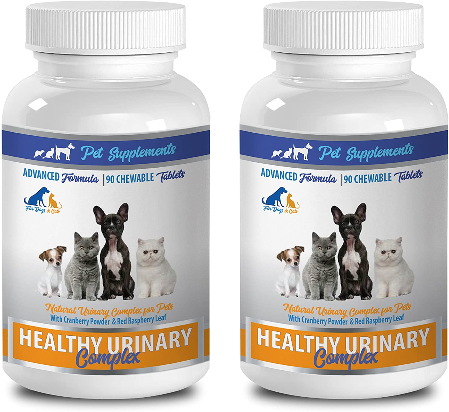 PET SUPPLEMENTS Dog Urinary Support - Healthy Urinary Complex - for Dogs and Cats - Advanced Support - CHEWABLE - Cranberry Dog Pills - 2 Bottle (180 Chews)
