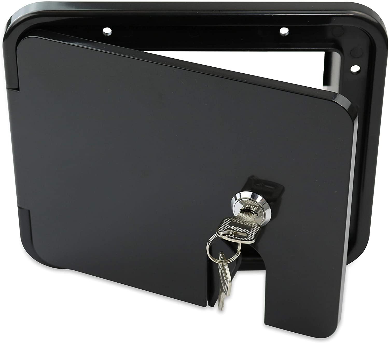 RV Camper Trailer Motorhome Power Cord Hatch Electrical Access Door (Black-1802MB)