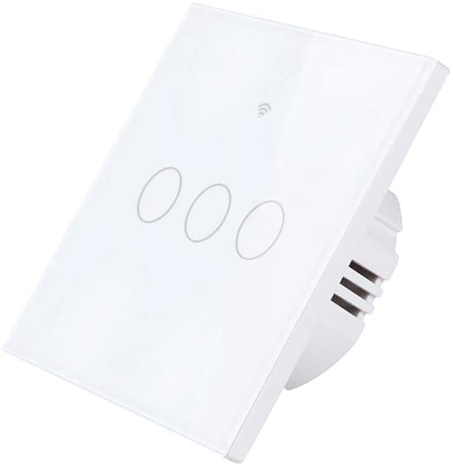 VOSAREA Smart Touch Switch AC WiFi Light Switch App Remote Control Wall Switch 100-250V