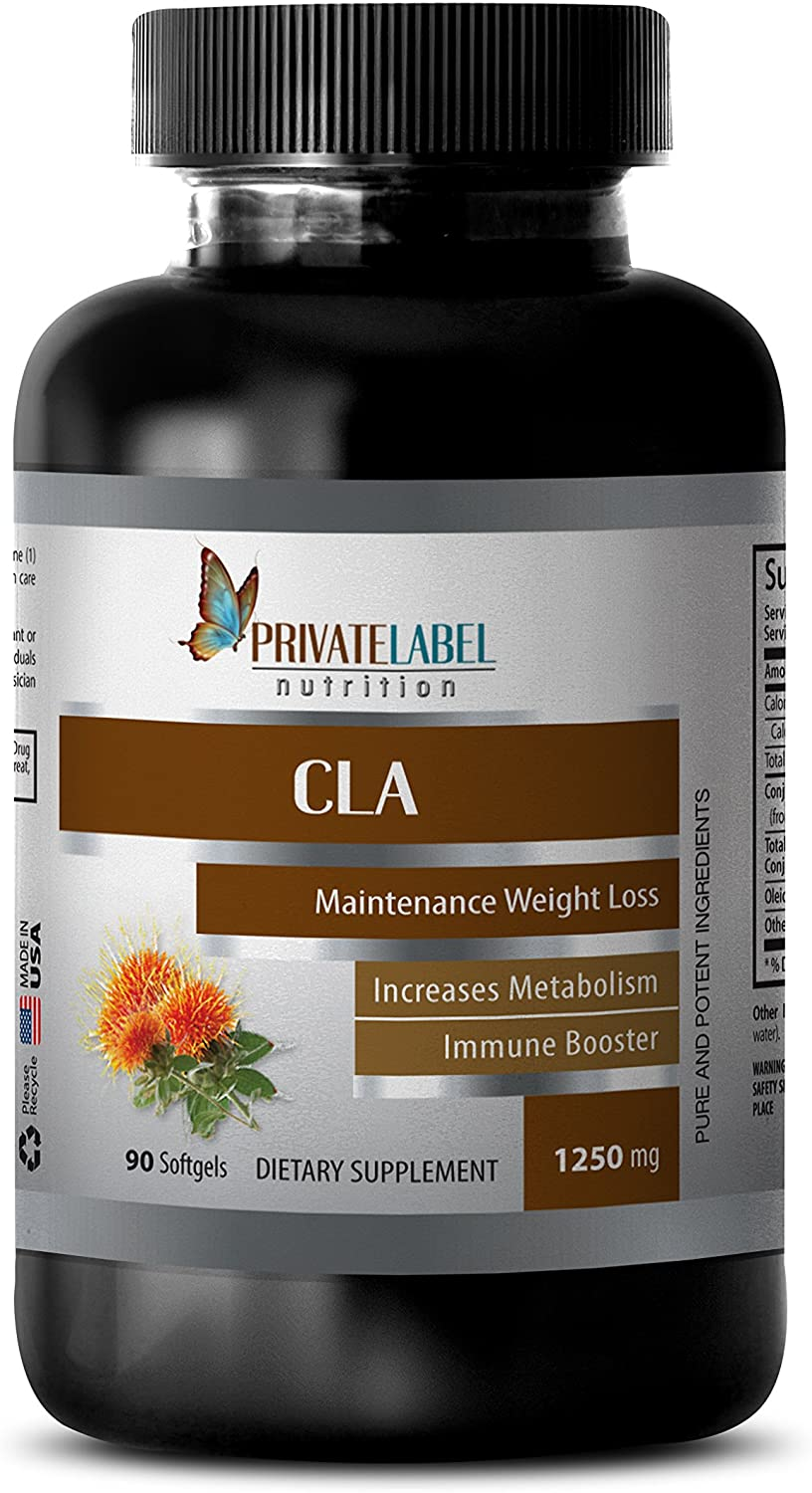 Weight Loss Products - CLA 1250MG - Safflower Oil - cla Capsules - 1 Bottle (60 Softgels)
