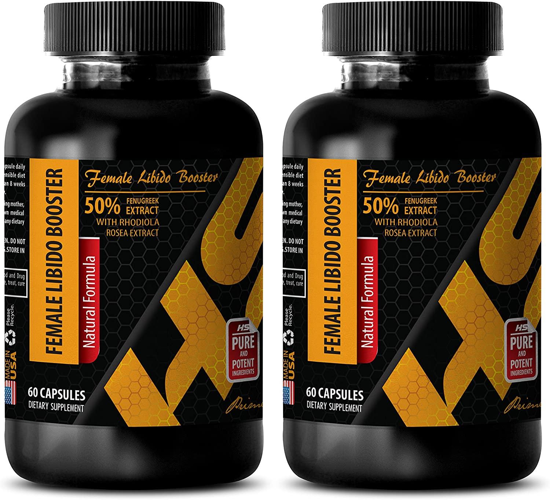 Sexual Enhancement for Women - Female LIBIDO Booster - Natural Formula - longjack Powder - 2 Bottles (120 Capsules)