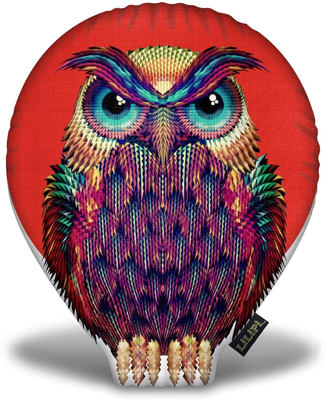 LiLiPi Owl 2 Tee Decorative Accent Throw Pillow
