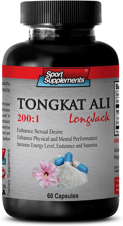 Increase Sex Drive for Women - TONGKAT ALI Root Extract 400 Mg 200 : 1 - Tongkat ali eurycoma longifolia - 1 Bottle 60 Capsules