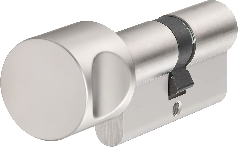 ABUS Profile Cylinder Lock with Doorknob KE20NP Z30/K30 B/SB, 598210