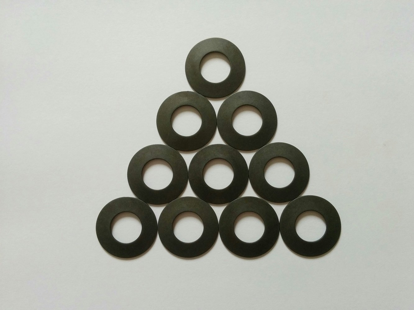 Metric Stainless Steel Belleville Spring Washer.787(20.0mm) Outer Diameter, 0.402(10.2mm) Inner Diameter.039(1.0mm) Thickness, 1,418 Newtons Max. Load (Pack of 10)