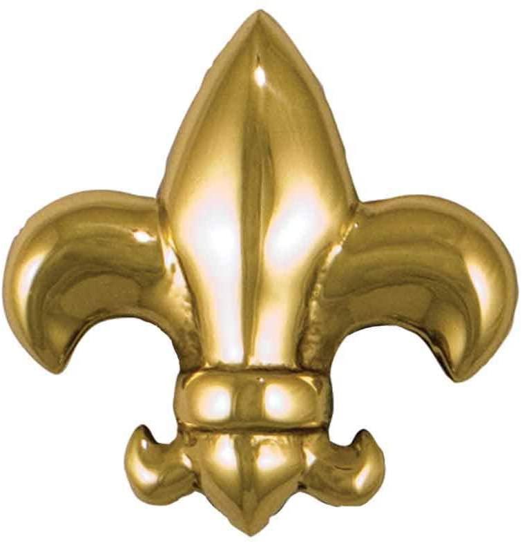 Fleur de Lys Doorbell Ringer - Brass