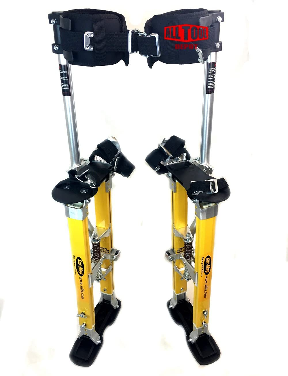 SurPro SP Quad Lock Magnesium Drywall Stilts 24-40 in. (SUR-SP-2440MP)