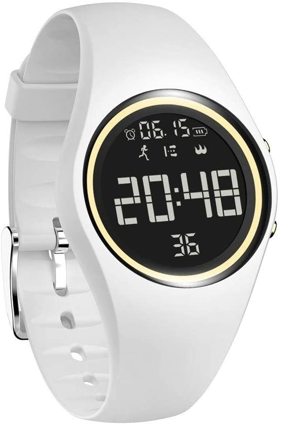 LOOZY Multi-color Optional Sports Step Counter Smart Watch Middle School Student Alarm Clock Bracelet Men Women Korean Version Of The Simple Trend Casual Waterproof Electronic Watch Vibrating Alarm Cl