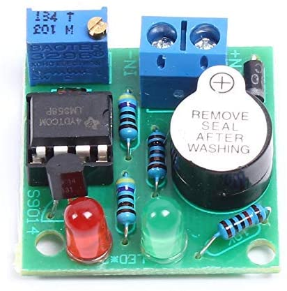 Over Discharge Protection Module, Low Voltage Under Vlotage Protection Module Voltage Protection Module with LED Indicator 12V on-Board Battery