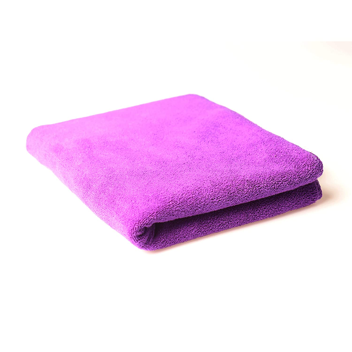 "Nimoco Composite Fibre Towels, Multi Purpose Fast Drying Travel Gym Towels, Hair Drying Towel, Soft, Super Absorbent and Fast Drying, No Fading, Size 29""x 13"",Violet"