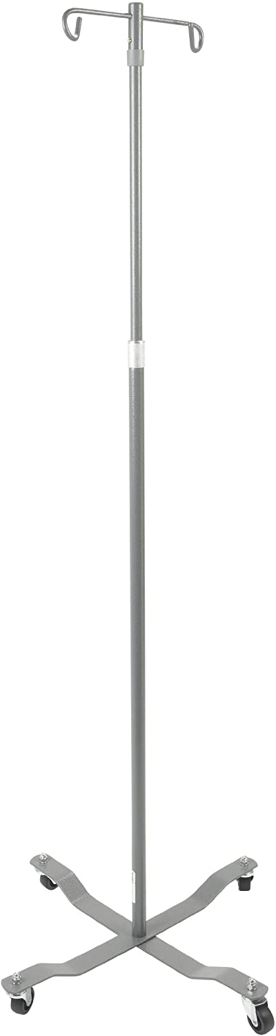 Drive Medical Economy Removable Top I. V. Pole, Silver Vein