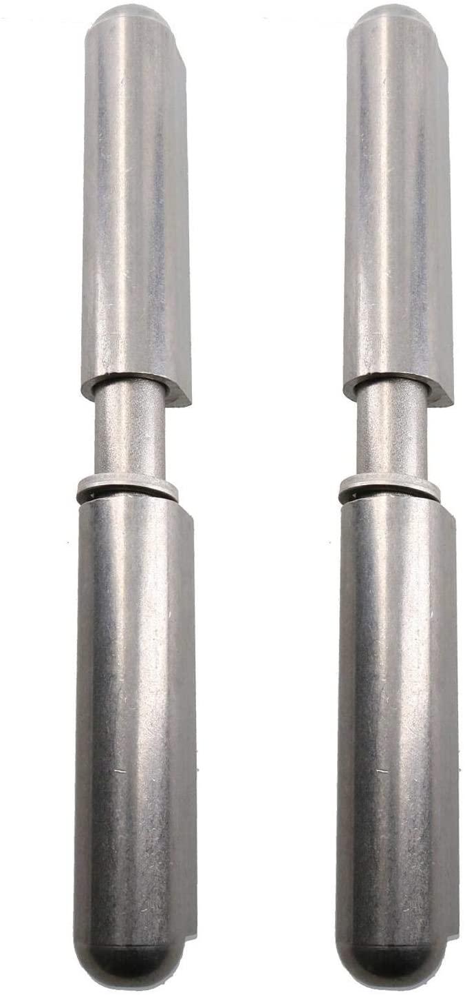 2pk Lift Off Stainless Steel Bullet Hinge Weld On 20x180mm Heavy Duty Door