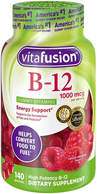 Vitafusion Vitamin B-12 1000 mcg Gummy Supplement, 140ct