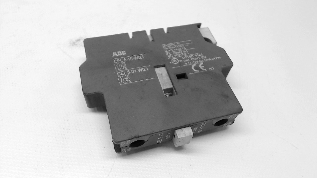 Abb Cel 5-10-W0,1 Auxiliary Contact Block 0.1A 125Vac 5Ma 24Vdc Cel 5-10-W0,1