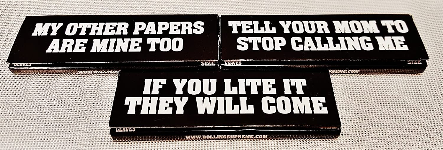 Rollies Bad Ass 1 1/4 Gummed Cigarette Rolling Papers 50 Per Pack