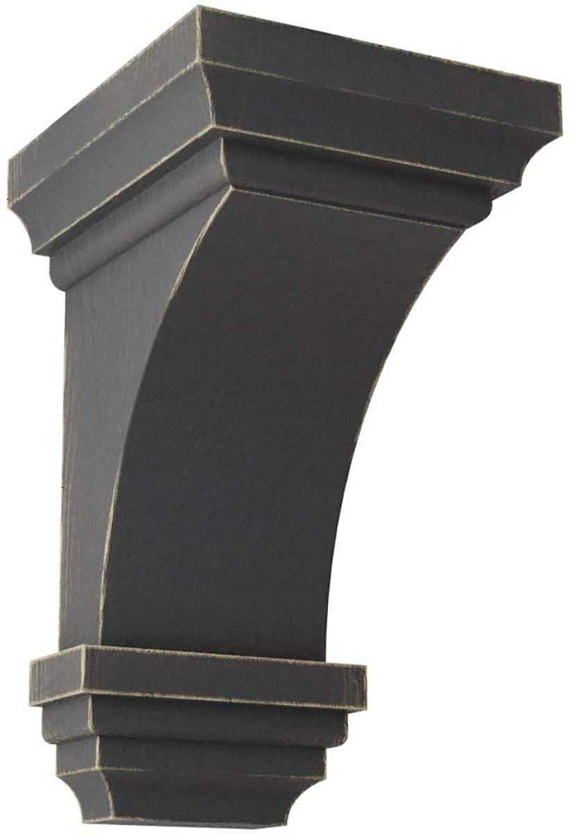 Ekena Millwork CORWD03X03X06JEBL Mini Jefferson Wood Vintage Decor Corbel, 3 1/2