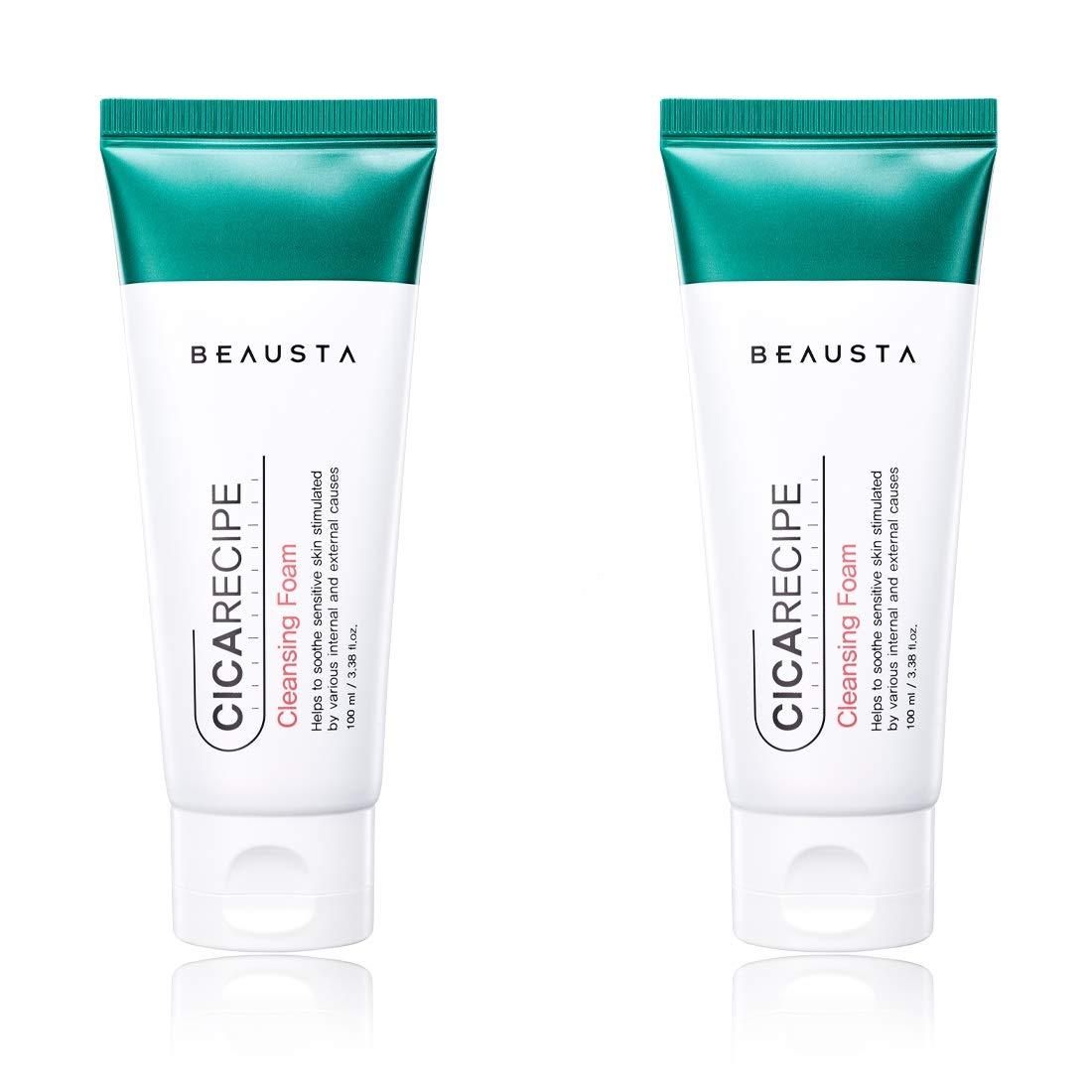 BEAUSTA CICARECIPE Moisturizing Cleansing Foam, Make Up Remover For Sensitive Skin