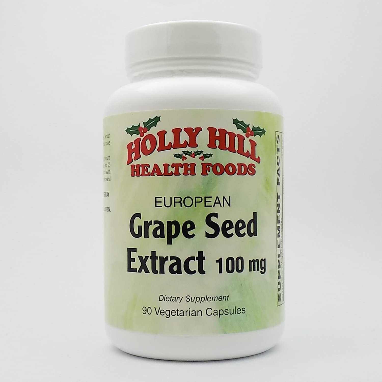 Holly Hill Health Foods, European Grape Seed Extract 100 MG, 90 Capsules