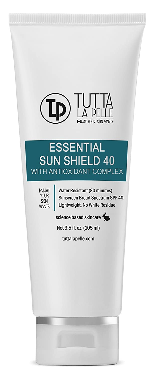 Zinc Oxide Sunscreen SPF 40 - Broad Spectrum UVA/UVB Protection - Water resistant (Up to 80 minutes) - Sunblock - Fragrance-free, Lightweight - Vitamin C Antioxidant - 3.5oz