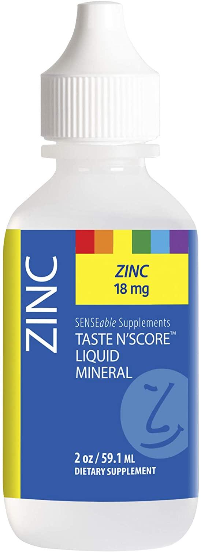 Taste N' Score Liquid Ionic Zinc Mineral Supplement; 100% Pure; 18 mg; 118 Servings