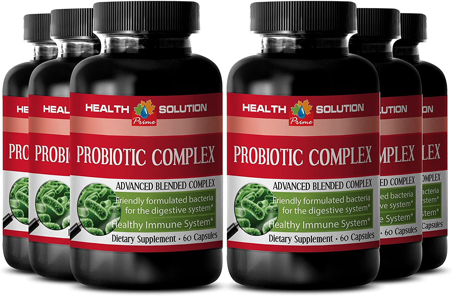 Probiotic Immune System Booster - PROBIOTIC Complex 550MG - Boost Digestion (6 Bottles)