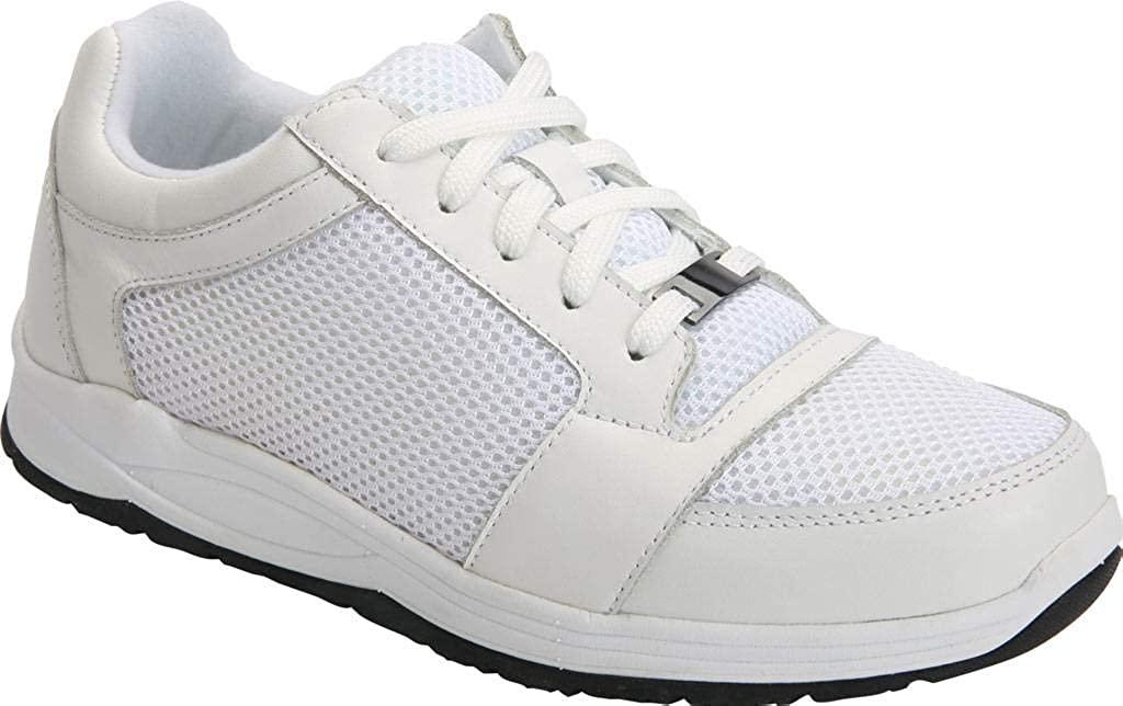 Drew Shoe Women's Gemini Fashion Sneakers, White, Leather, Mesh, Rubber, 13 WW