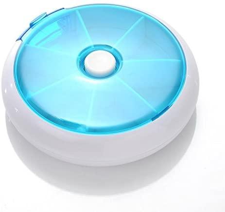 COJOY Portable Round 7 Day Medicine Pill Vitamin Box Case Container Dispenser Medicine Vitamin Storage Holder