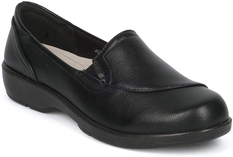 Alrisco Women Leatherette Comfort Work Loafer HD89