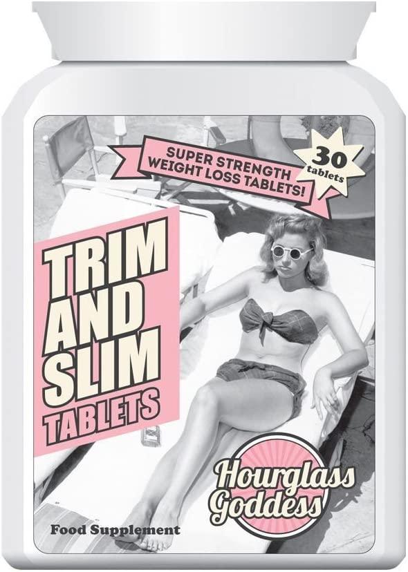 Hourglass Goddess Trim and Slim Tablets Lose Fat Burn Fat Slim Lean Toned Perfect Body