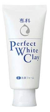 SENKA Perfect White Clay 40g -5X dense foam, Cleansing Power with Silk Essence, Brightening Cleansing for oily to normal skin