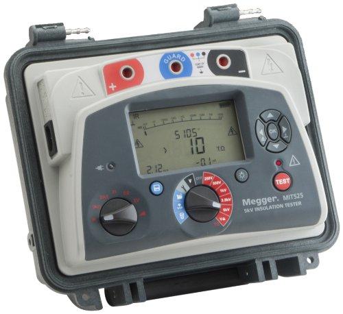 Megger MIT525-US Insulation Tester with Output, 10 Teraohms Resistance, 5kV Multi-Range Test Voltage