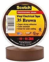 3M 35 BROWN (3/4X66FT) TAPE, INSULATION, PVC, BROWN 0.75INX66FT (50 pieces)