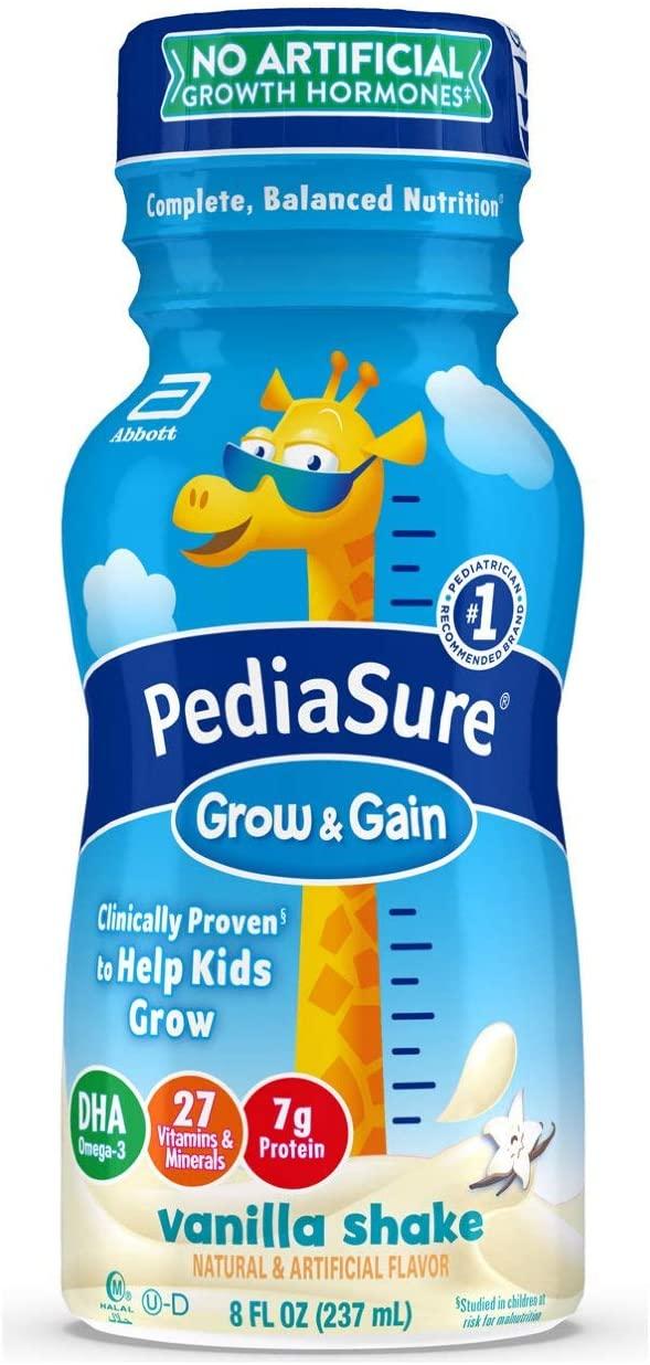 Pediasure Grow & Gain Kids� Nutritional Shake, With Protein, Dha, & Vitamins & Minerals, Vanilla, 8 Fl Oz, 24 Count