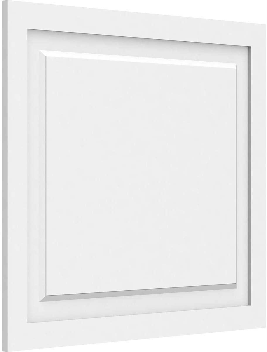 Ekena Millwork WALP30X26X062HAR-CASE-50 Harrison Raised Decorative PVC Wall Panel (50-Pack), 30W x 26H x 5/8P, White