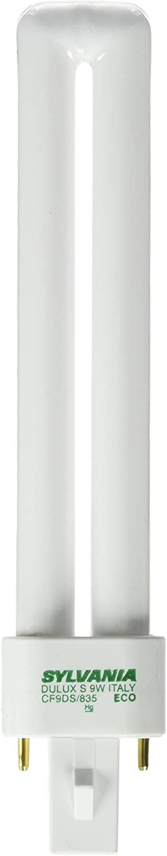 Sylvania 21273 Compact Fluorescent 2 Pin Single Tube 3500K, 9-watt