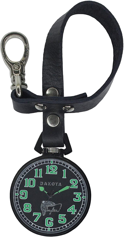 31791 Men's Japanese Quartz Watch with Calfskin Leather Strap, Black (Model