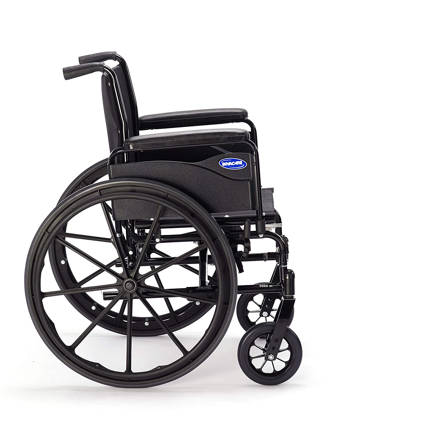 Invacare 9000 SL Durable Light Weight Wheelchair, Full-Length Arms, 18